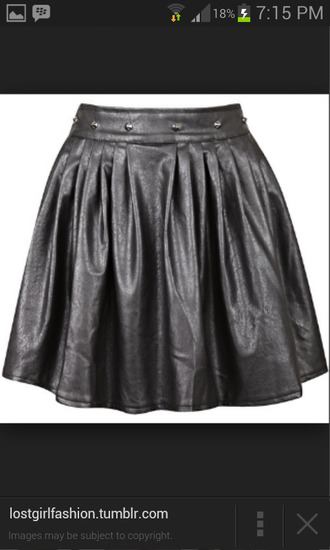 black skater skirt black skirt skater skirt leather skirt