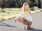 cheyenne meets chanel,sweater,shoes,bag,skirt,jewels