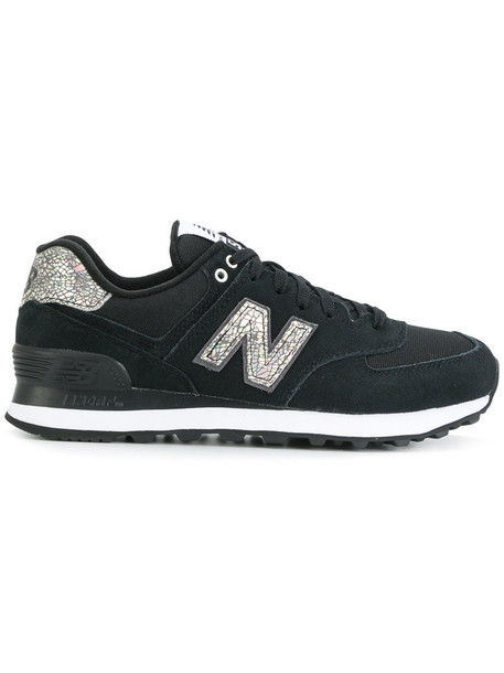 New Balance women sneakers blue suede neoprene shoes