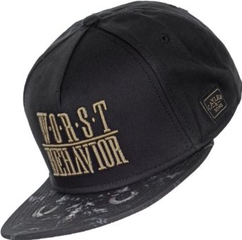 ee5b34f8 Cayler & Sons Snapback Cap - WORST BEHAVIOR black / gold: Amazon.co.uk:  Clothing
