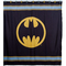 Warner bros batman logo shower curtain