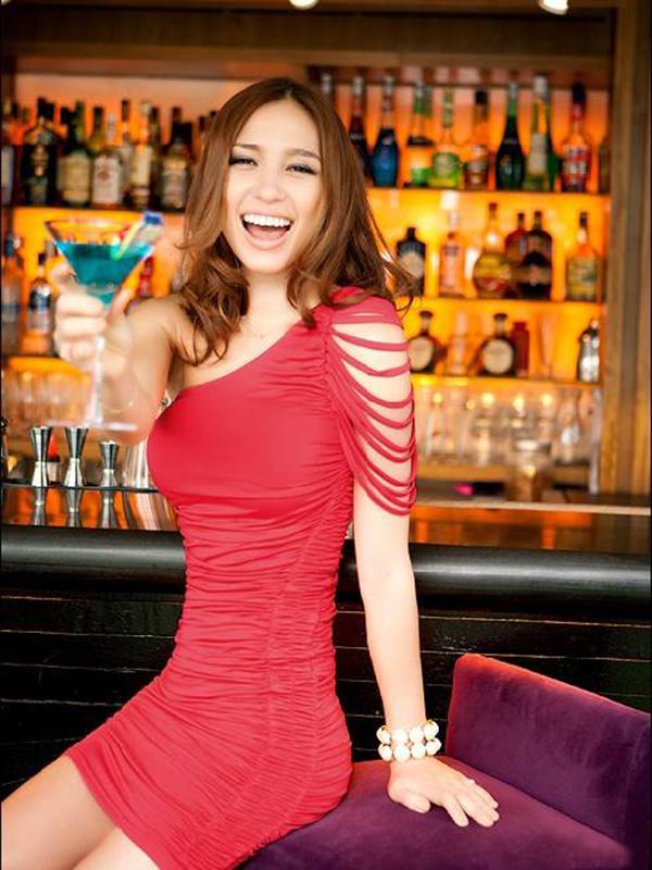 One Shoulder Polyester Slim Sleeveless Dress : KissChic.com