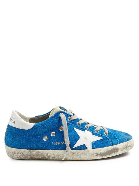 GOLDEN GOOSE DELUXE BRAND top suede blue