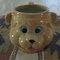Vintage cute tan teddy bear mug