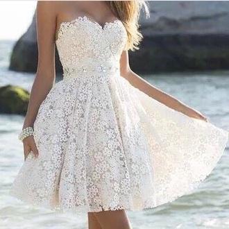 dress white summer beautiful prom dress