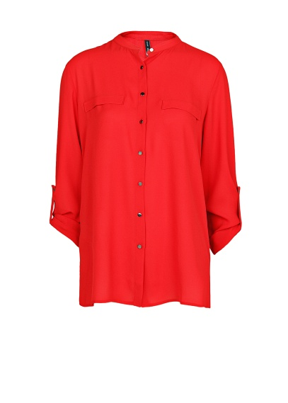 MANGO - NEW - Mao collar flowy blouse