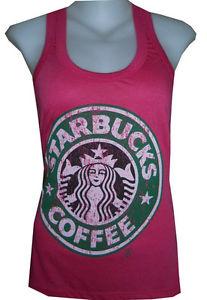 LADY TOPS SHIRT STARBUCKS COFFEE CASUAL SOFT COTTON FREE SZ VINTAGE PRINT NEW | eBay