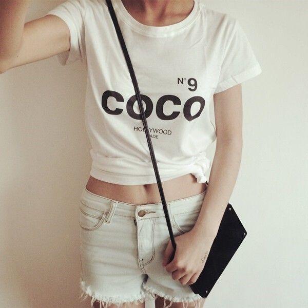 Coco shirt CC tshirt Coco N9 woman Letter Print tshirt Casual Women Tops Tee T