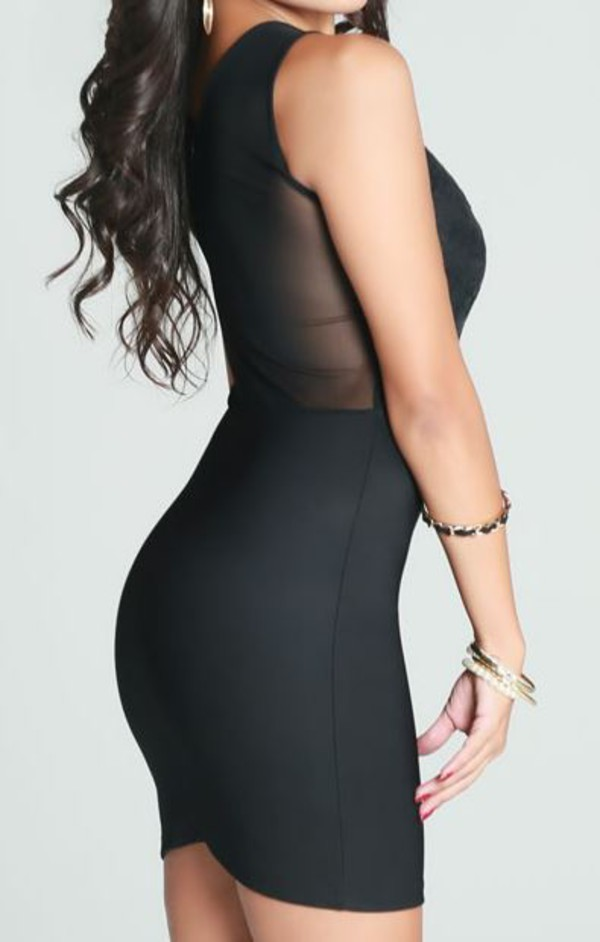 black dress little black dress little black dress black mesh dress mesh back dress bodycon dress black bodycon dress www.ustrendy.com