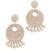 Kenneth Jay Lane Ivory Seed Bead Hoop Earrings - Ivory