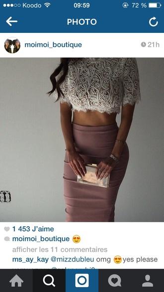top white top skirt