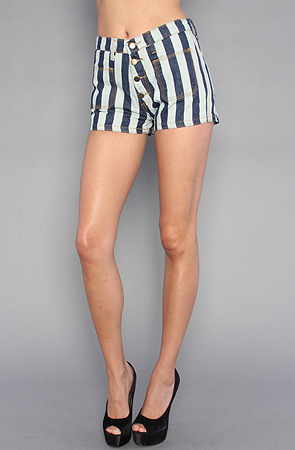 Your Eyes Lie The Stripe Denim Short -  Karmaloop.com