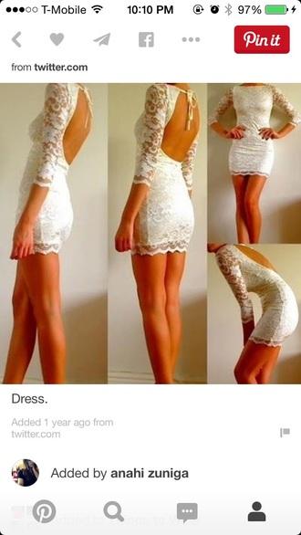 dress white lace lace dress white dress backless dress