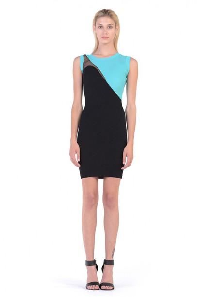 99f3bd6a44 dress pop art arty modern modernistic edgy hip trendy colorblocked  colorblock colorblock colorblock aqua black bodycon