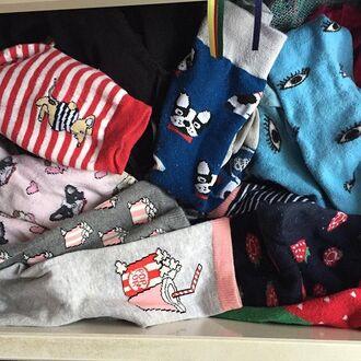 socks yeah bunny frenchie dog pugs french bulldog xmas gifts cute socks