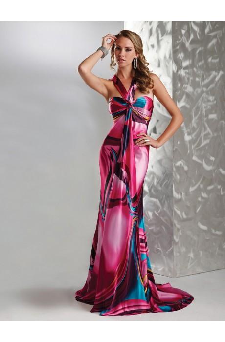 Sleeveless Empire Sweep Train Ruche Zipper Prom Dresses