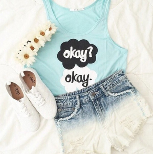 tank top summer outfits cute girly vintage hippie urban boho shorts shoes jewels hair accessory