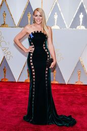 dress,busy philipps,Oscars 2017,gown,prom dress,long dress,strapless,strapless dress,oscars