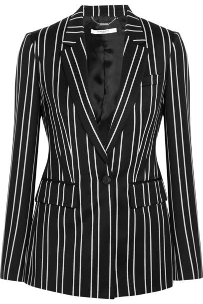 Givenchy blazer jacquard white black wool black and white jacket