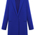 Blue Lapel Long Sleeve Loose Woolen Coat - Sheinside.com