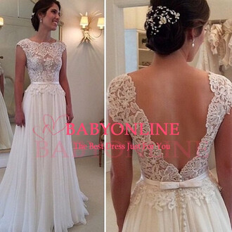wedding dress dress lace wedding dresses prom prom dress promdresses white dress lace dress lace evening dress backless prom dress wedding