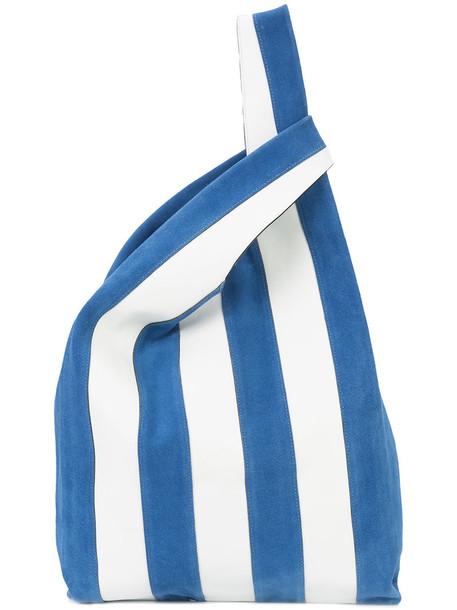 Hayward women soft leather blue suede bag