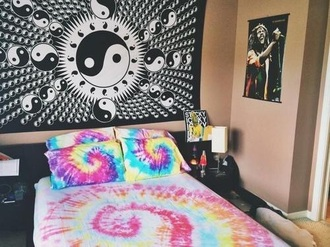 home accessory yin yang tapestry dorm room