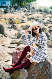 olivia lazuardy,blogger,skirt,shoes,boots,over the knee boots