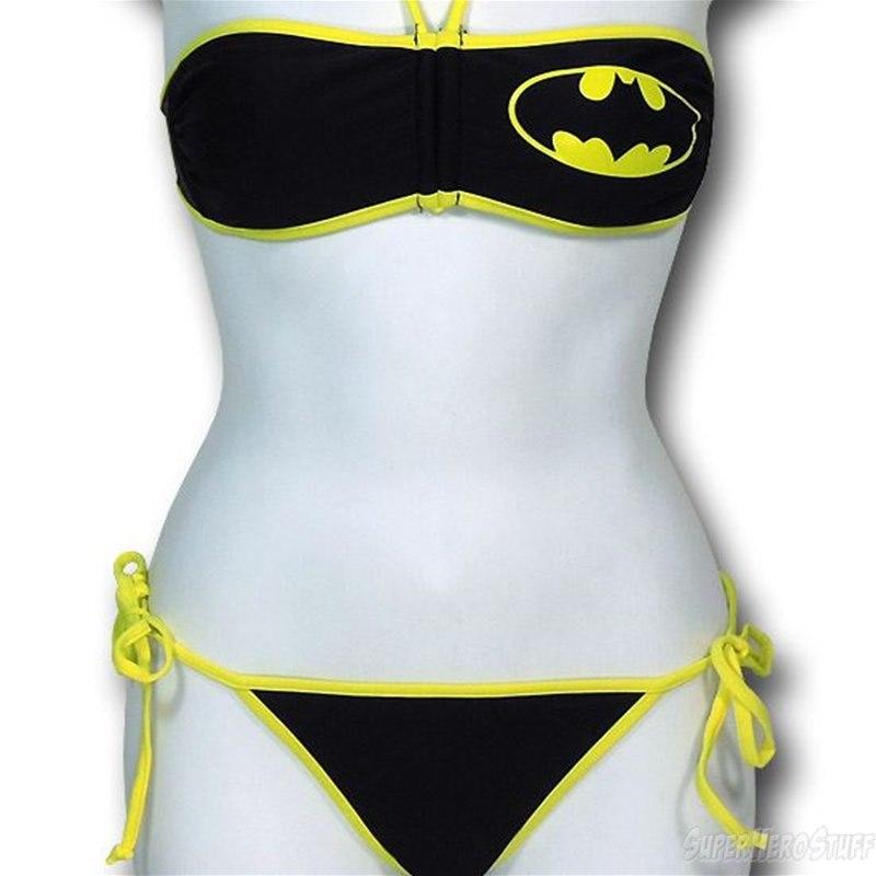 Batgirl bandeau bikini women's swimsuit