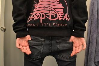sweater drop dead crewneck