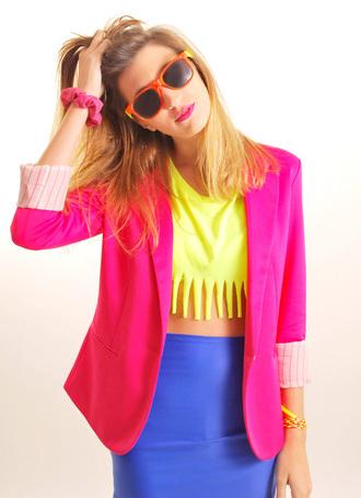 jacket neon top