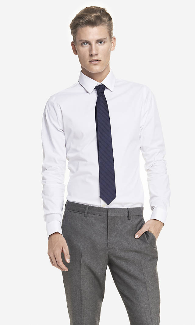 Extra slim plaid shirt from express