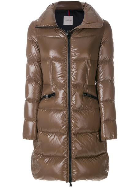 moncler jacket women wool brown