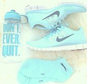 shoes,sport shoes,nike shoes womens roshe runs,new years resolution,nike shoes,water bottle,socks,mint
