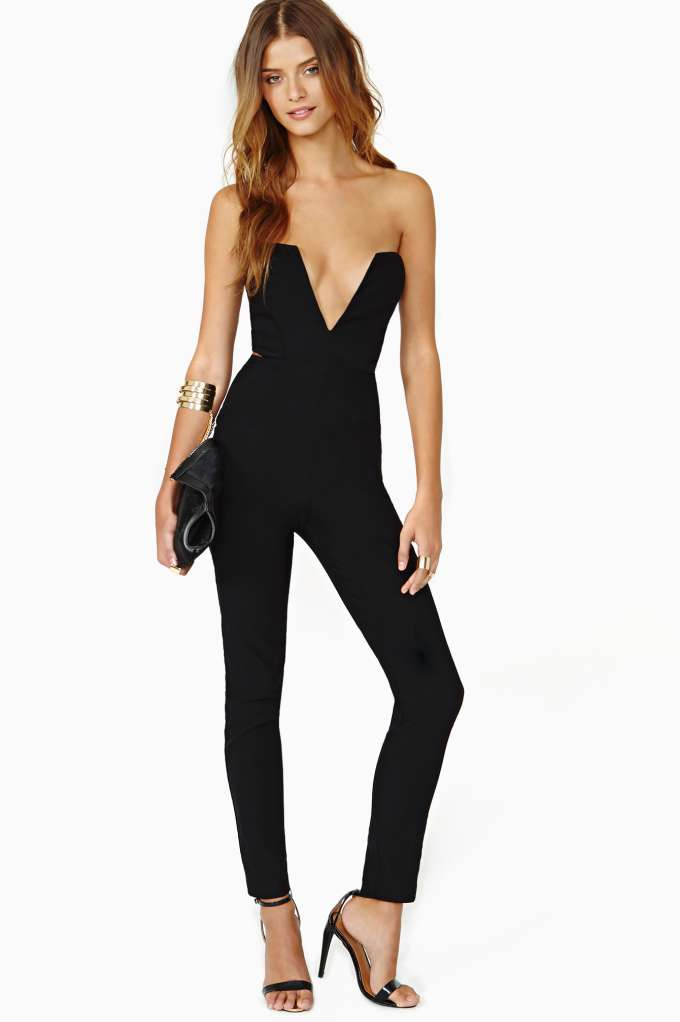 Nasty Gal Midnight Run Jumpsuit in  Clothes Rompers   Jumpsuits at Nasty Gal