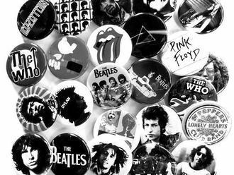 jewels pins the beatles rock pink floyd led zeppelin lips bob marley band badge black and white
