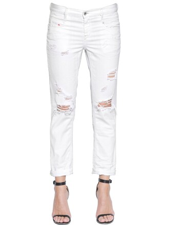 jeans denim soft cotton white