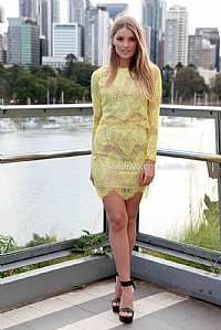 Orchard lace set , dresses, tops, bottoms, jackets & jumpers, accessories, 50% off , pre order, new arrivals, playsuit, colour, gift voucher,,skirts,yellow,print,lace,crop,long sleeves,mini australia, queensland, brisbane