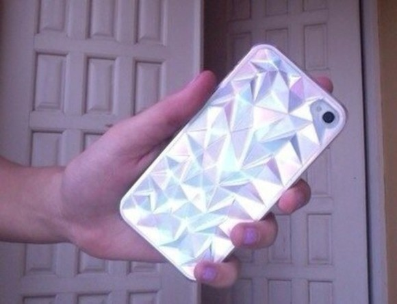 jewels phone case iphone case holographic tumblr iphone 5 case hologram