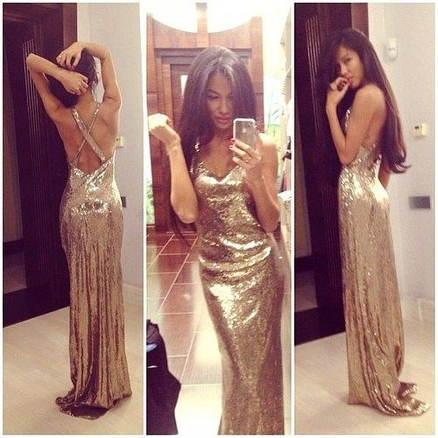 Aliexpress.com : Buy Sparkly Prom Dress Full Sequins Bodice Vestidos Longo V_neck Criss_cross Back Mermaid Vestido De Festa Custom Made Cheap Prom from Reliable prom dress accessories suppliers on Love Kiss Evening Dress and Wedding Dress Manufactory | Alibaba Group