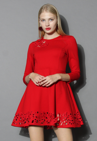 dress grace butterflies cutout dress in red chicwish red dress cut-out dress chicwish dress