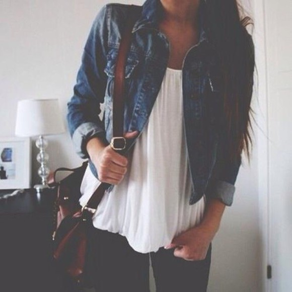 jacket denim jacket cute bag beautiful summer outfits jeans shirt denim coat jean jackets