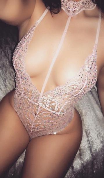 underwear lingerie jumpsuit bodysuit lace lingerie pink choker necklace shirt sparkle romper sparkle one piece top sparkly lingerie sexy see through sexy lingerie