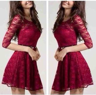 dress burgundy dress short dress
