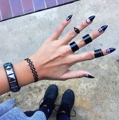 jewels,black rings,ring set,ring,cute rings,knuckle ring,ring sets,jewelry,rings and tings,midi rings hand jewelry