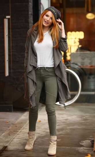 top jeans pants ankle boots fall outfits jacket fall jacket bella thorne shoes boots