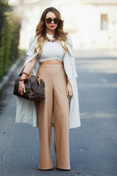 cashmere in style,blogger,coat,top,pants,bag,jewels,shoes,sunglasses