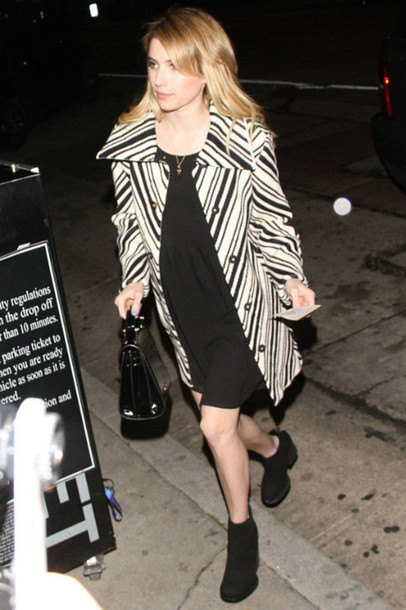 dress coat emma roberts fall outfits