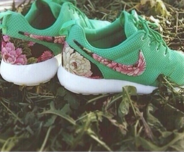 shoes nike floral shoes