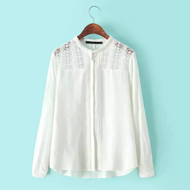 blouse brenda-shop top shirt off-white soft cotton sheer transparent crochet delicate embroidered spring outfits summer